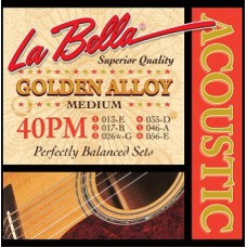 Струны для акустической гитары La Bella Golden Alloy 40PM