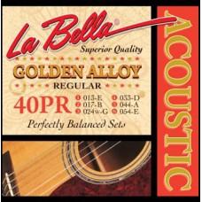 Струны для акустической гитары La Bella Golden Alloy 40PR