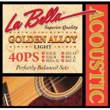 Струны для акустической гитары La Bella Golden Alloy 40PS