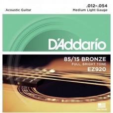 Струны для акустической гитары D'ADDARIO EZ920