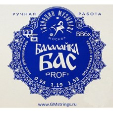 Струны для балалайки БАС Господин Музыкант BB6x
