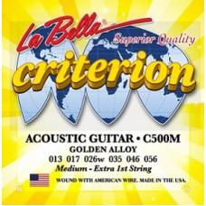 Струны для акустической гитары La Bella C500M Criterion