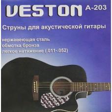 Струны для акустической гитары VESTON A203